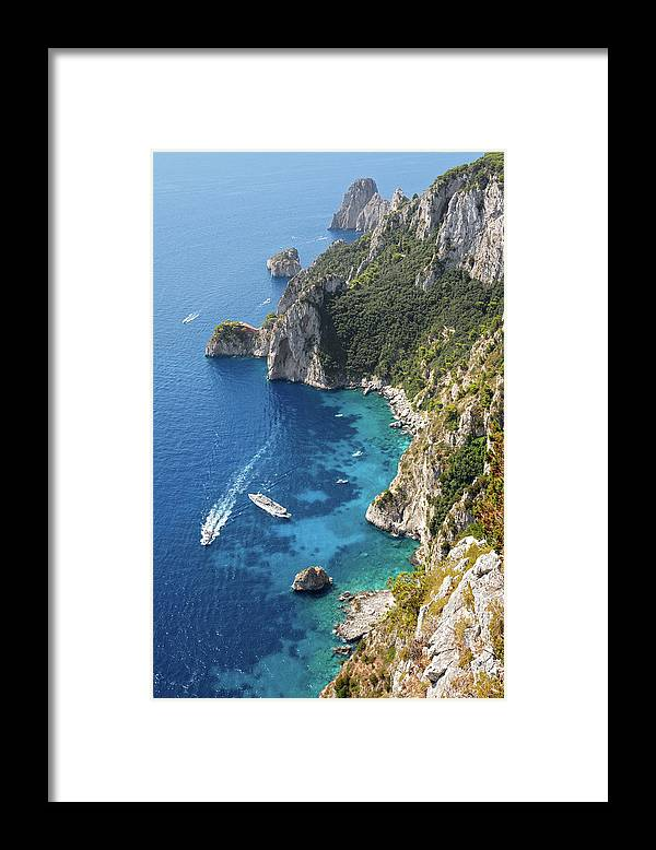 Scenics Framed Print featuring the photograph Beautiful Capris Sea by Pierpaolo Paldino