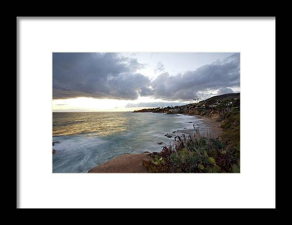Laguna Beach Framed Print featuring the photograph Beautiful Laguna Coast After Sunset by Ekash