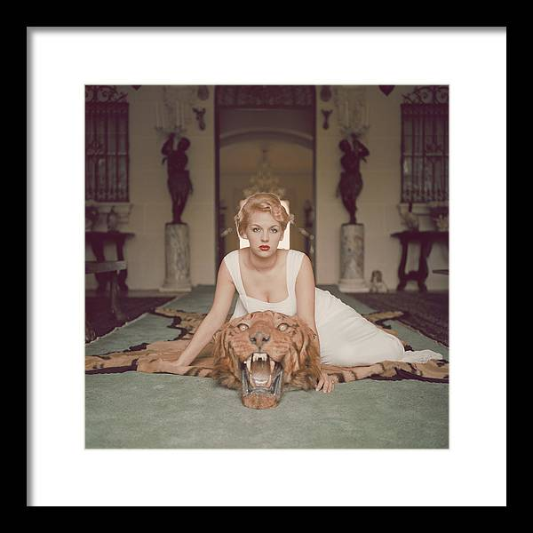 People Framed Print featuring the photograph Beauty And The Beast by Slim Aarons