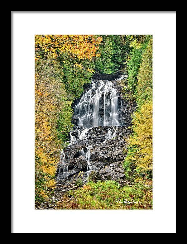 New England Framed Print featuring the photograph Beaver Brook Falls 8221 by Dan Beauvais