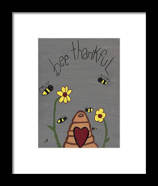 Bee Thankful Framed Print featuring the photograph Bee Thankful by Nina Marie