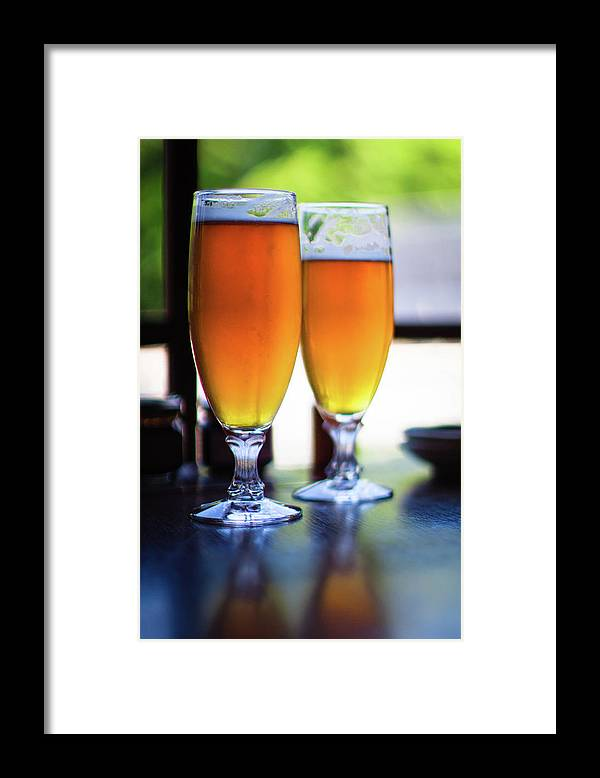 Alcohol Framed Print featuring the photograph Beer Glass by Sakura chihaya+