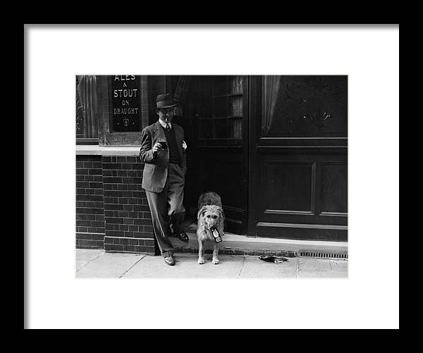 Pets Framed Print featuring the photograph Beer Loving Dog by Fox Photos