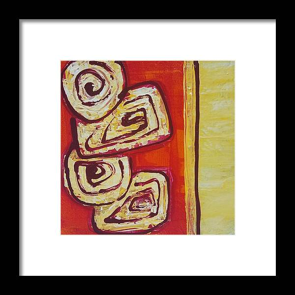 Abstract Framed Print featuring the painting Beguiled by K Batson Art