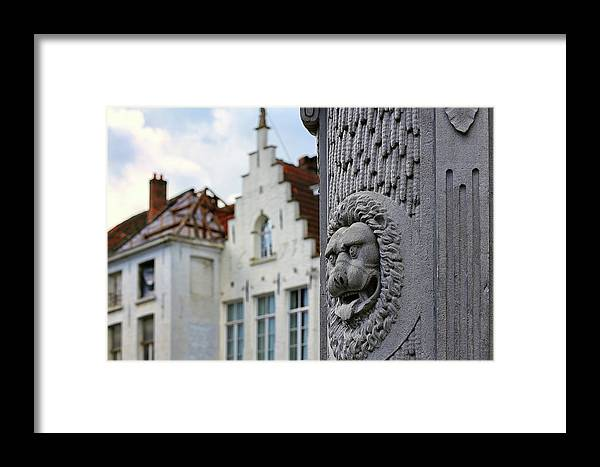 Belgium Coat Of Arms Framed Print featuring the photograph Belgian Coat Of Arms by Nathan Bush