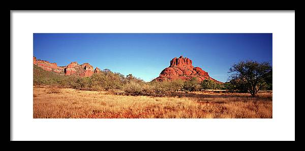Scenics Framed Print featuring the photograph Bell Rock, South Of Sedona, Arizona by Lfreytag