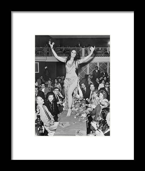 People Framed Print featuring the photograph Belly Dancer At Cairo Party by Bettmann