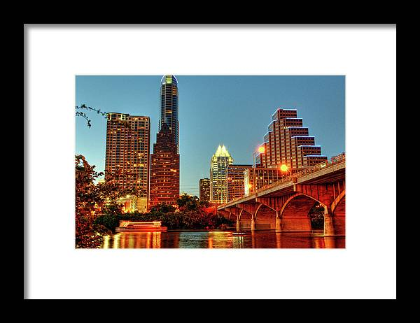 Arch Framed Print featuring the photograph Below Congress Avenue Bridge by David Hensley