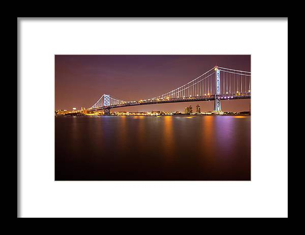 Built Structure Framed Print featuring the photograph Ben Franklin Bridge by Richard Williams Photography