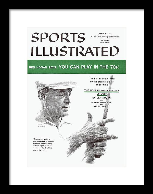 Magazine Cover Framed Print featuring the photograph Ben Hogan Golf Tips Sports Illustrated Cover by Sports Illustrated