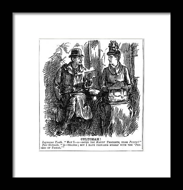 Charity Benefit Framed Print featuring the drawing Benefits Of University Education by Print Collector