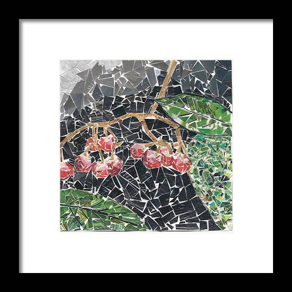 Berries Framed Print featuring the mixed media Berries by Karla Clark