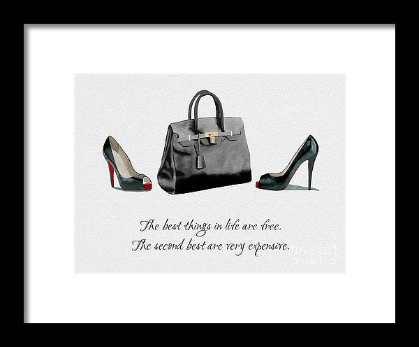 Christian Louboutin Framed Print featuring the mixed media Best Things In Life by My Inspiration