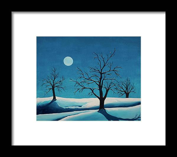 Blue Framed Print featuring the painting Beyond This Moment by Rollin Kocsis