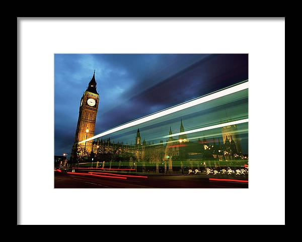 Gothic Style Framed Print featuring the photograph Big Ben And The Houses Of Parliament by Allan Baxter