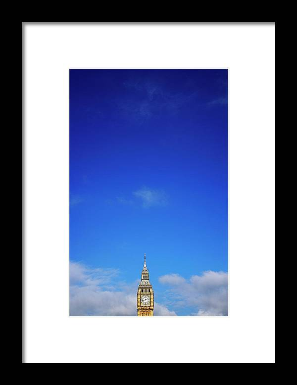 Clock Tower Framed Print featuring the photograph Big Ben, Or Palace Of Westminster Clock by Dan Hallman