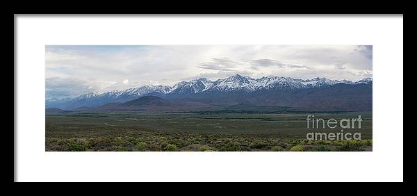 Owens Valley Framed Print featuring the photograph Big Pine California Overlook by Michael Ver Sprill
