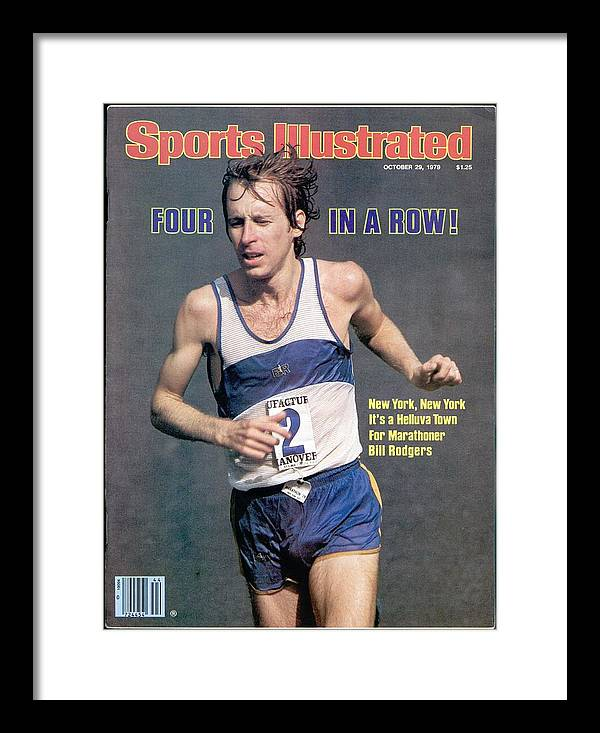 Magazine Cover Framed Print featuring the photograph Bill Rogers, 1979 New York City Marathon Sports Illustrated Cover by Sports Illustrated