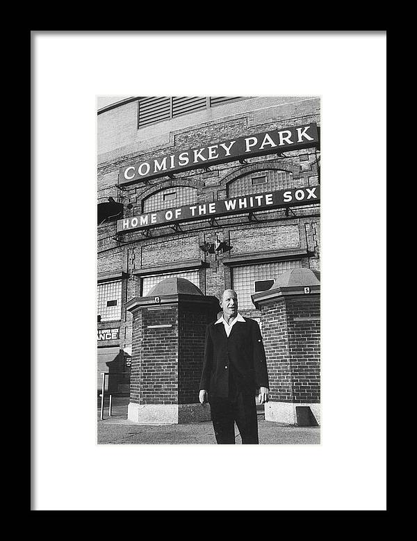 Timeincown Framed Print featuring the photograph Bill Veeck by Francis Miller