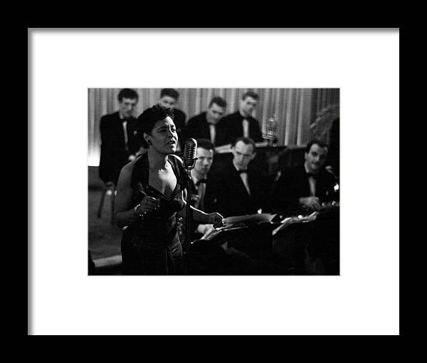 Singer Framed Print featuring the photograph Billie Holiday by Charles Hewitt