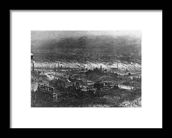 England Framed Print featuring the digital art Black Country by Hulton Archive