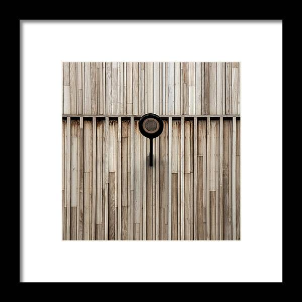 Abstract Framed Print featuring the photograph Black Lamp by Gilbert Claes