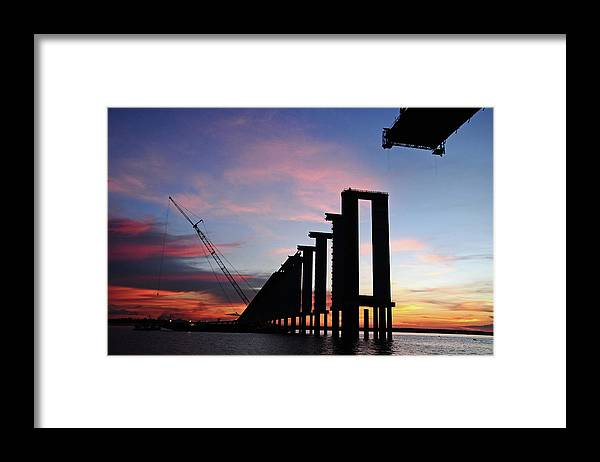 Tranquility Framed Print featuring the photograph Black River Bridge by Fabionutti