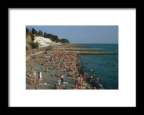 Sochi Framed Print featuring the photograph Black Sea Coast by Harvey Meston