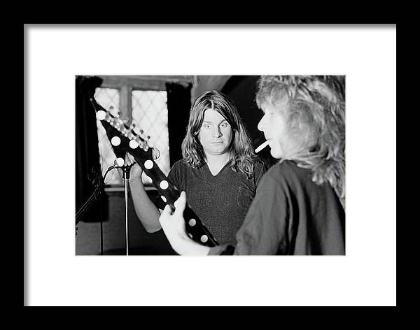 Horizontal Framed Print featuring the photograph Blizzard Of Ozz Sessions by Fin Costello