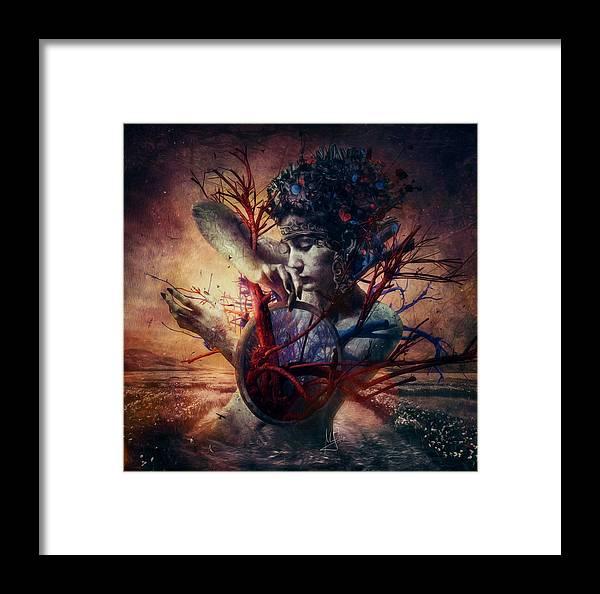 Love Framed Print featuring the mixed media Blossom by Mario Sanchez Nevado