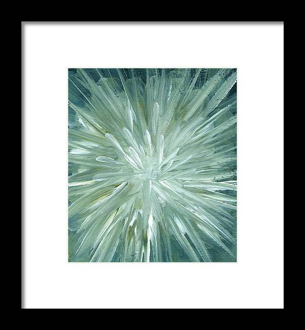 Art Framed Print featuring the digital art Blow Up, Abstract Background by Mitza