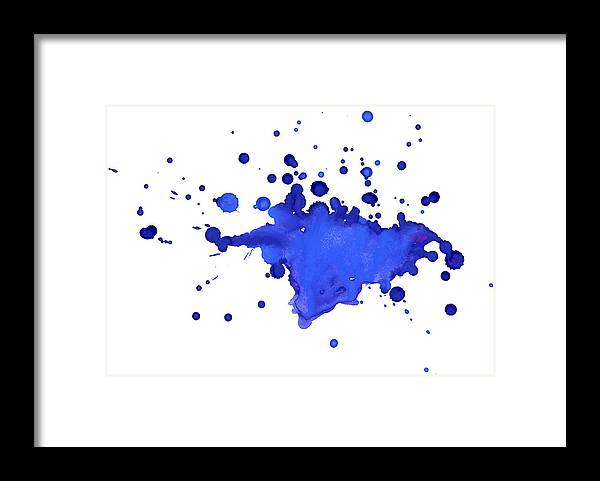 Art Framed Print featuring the photograph Blue Blobs On The Paper by Alenchi