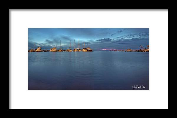 Landscape Framed Print featuring the photograph Blue Hour by David Pine