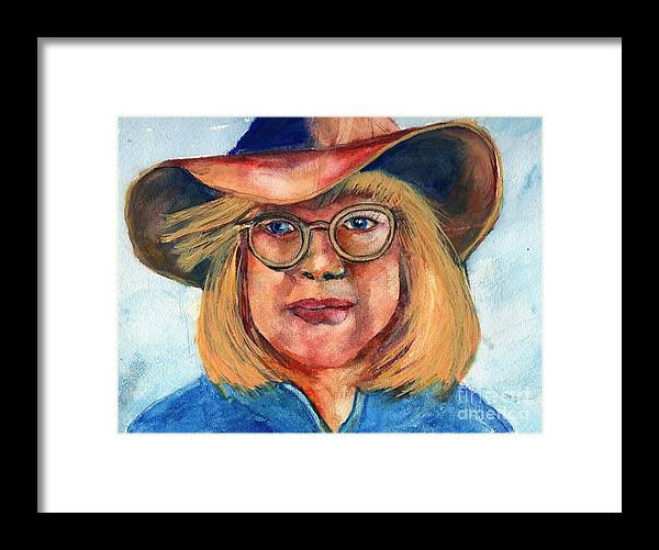 Cow Girl Framed Print featuring the painting Blue Jean Lady by Randy Sprout