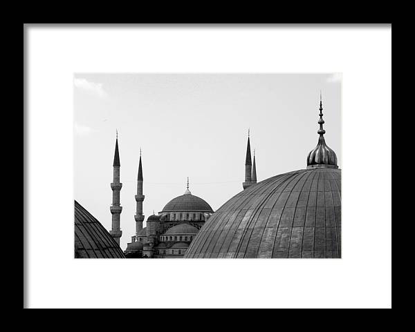 Istanbul Framed Print featuring the photograph Blue Mosque, Istanbul by Dave Lansley