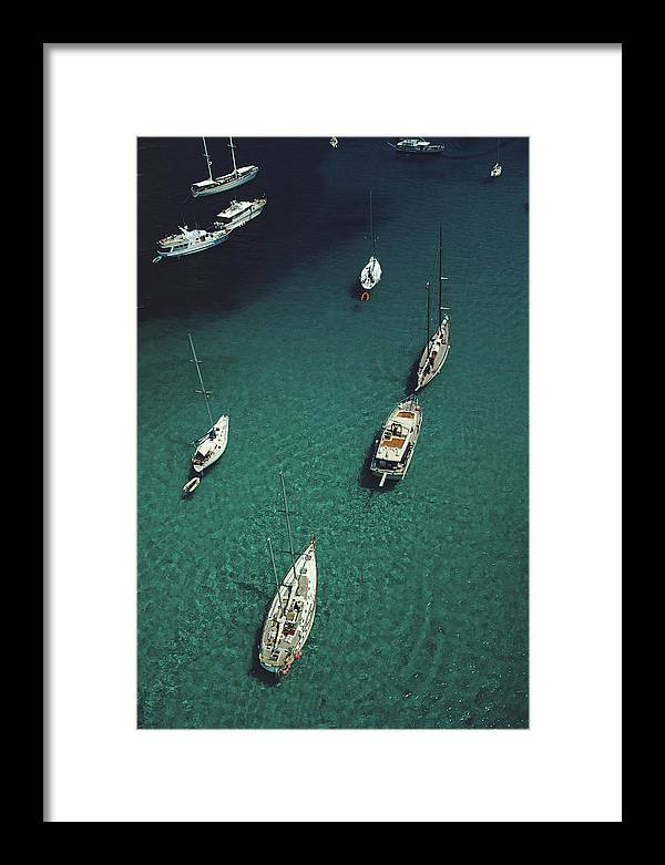 1980-1989 Framed Print featuring the photograph Blue Seas by Slim Aarons