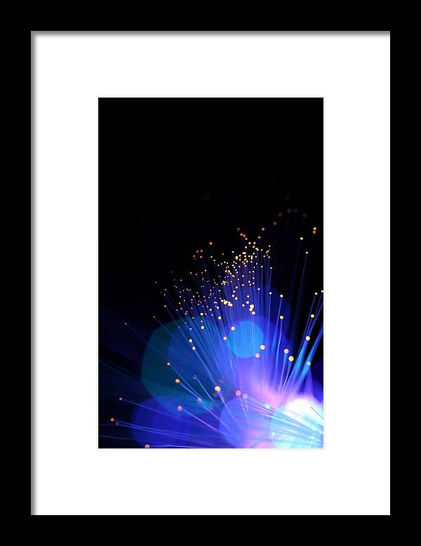 Funky Framed Print featuring the photograph Blue Sparkle Lights by Merrymoonmary