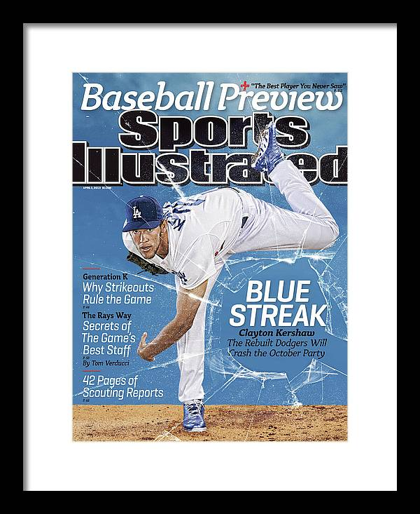 Magazine Cover Framed Print featuring the photograph Blue Streak, 2013 Mlb Baseball Preview Issue Sports Illustrated Cover by Sports Illustrated