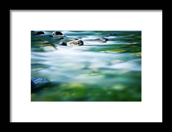 Scenics Framed Print featuring the photograph Blurred River by Assalve