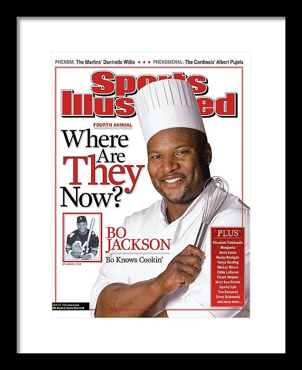 Magazine Cover Framed Print featuring the photograph Bo Jackson, Where Are They Now Sports Illustrated Cover by Sports Illustrated
