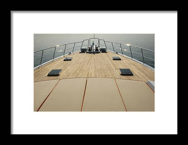 Seascape Framed Print featuring the photograph Boat Deck by 1001nights