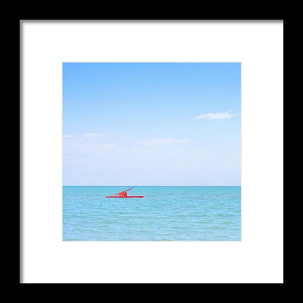 Scenics Framed Print featuring the photograph Boat by Michael Kohaupt