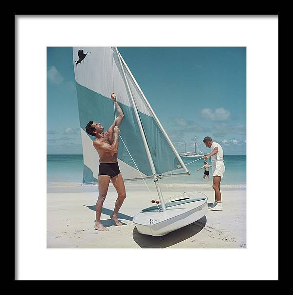 Boating In Antigua Framed Print