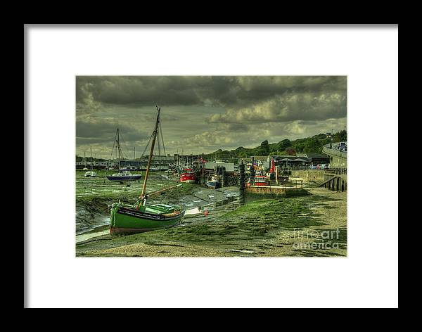 Leigh On Sea Framed Print featuring the photograph Boats At Leigh On Sea by Rob Hawkins