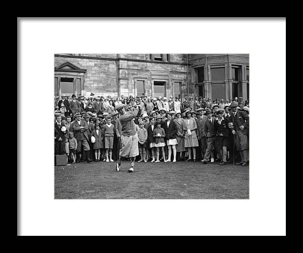 Crowd Framed Print featuring the photograph Bobby Jones by Topical Press Agency