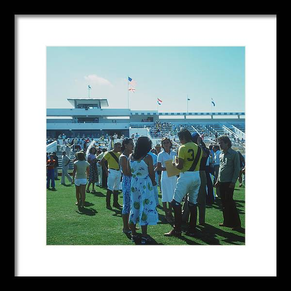 Horse Framed Print featuring the photograph Boca Raton Polo Set by Slim Aarons