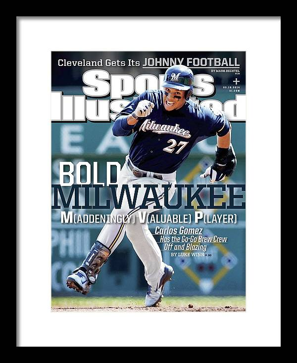 Magazine Cover Framed Print featuring the photograph Bold Milwaukee Maddeningly Valuable Player Sports Illustrated Cover by Sports Illustrated