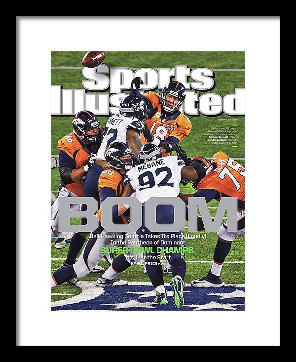 Magazine Cover Framed Print featuring the photograph Boom Ball-hawking Seattle Takes Its Place Loudly In The Sports Illustrated Cover by Sports Illustrated