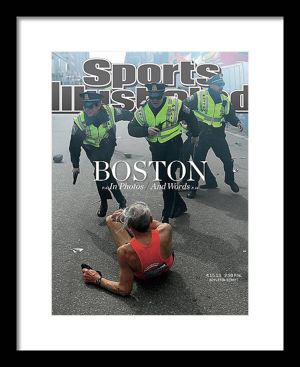 Magazine Cover Framed Print featuring the photograph Boston Bombing Sports Illustrated Cover by Sports Illustrated