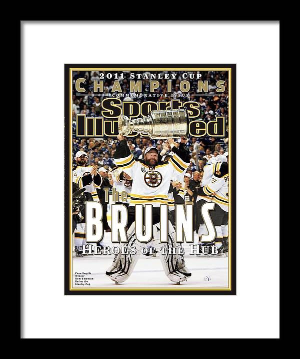 Playoffs Framed Print featuring the photograph Boston Bruins, 2011 Nhl Stanley Cup Champions Sports Illustrated Cover by Sports Illustrated